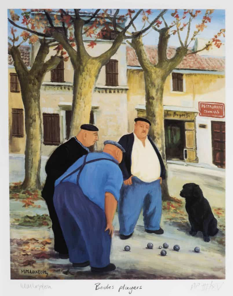 Boules Match - Signed numbered Print by Mags