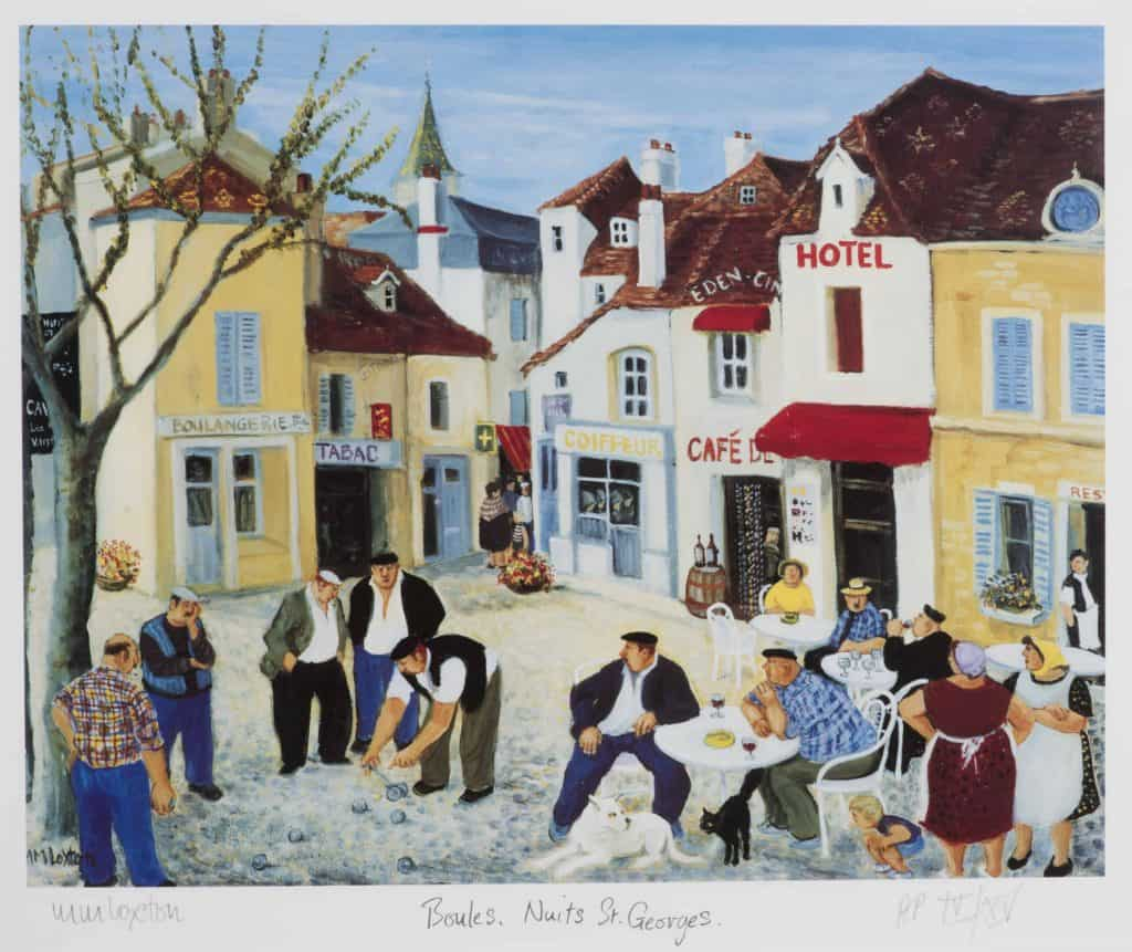 Boules at Nuits St Georges by Mags Loxton