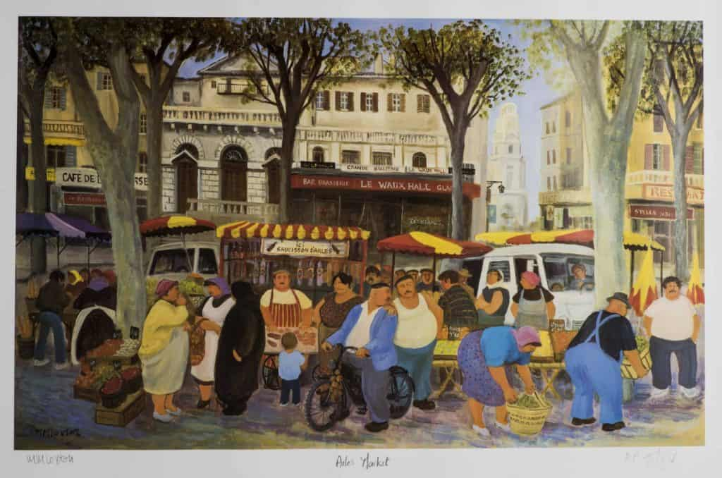 Arles Market by Mags Loxton - Signed and numbered print £85 (incl P and P)