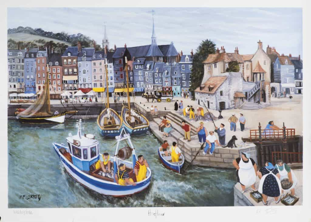 'Honfleur' Asigned and numbered Print by Mags Loxton